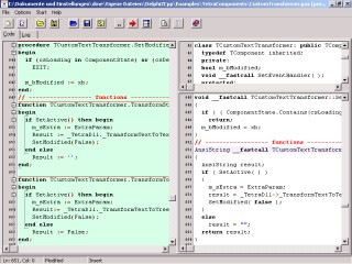 TextTransformer parser generator IDE: Products, conversion of text files